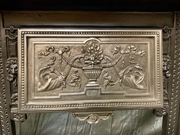 19th Century Victorian Cast Iron Fireplace Insert In Good Condition For Sale In Edinburgh, GB
