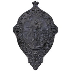 19th Century Victorian Cast Iron Wall Hanging