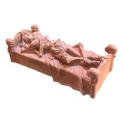19th Century Victorian Cement Skeleton Sculpture