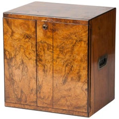19th Century Victorian Cigar Box Burl Walnut Veneer
