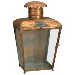 19th Century Victorian Copper Wall Lantern