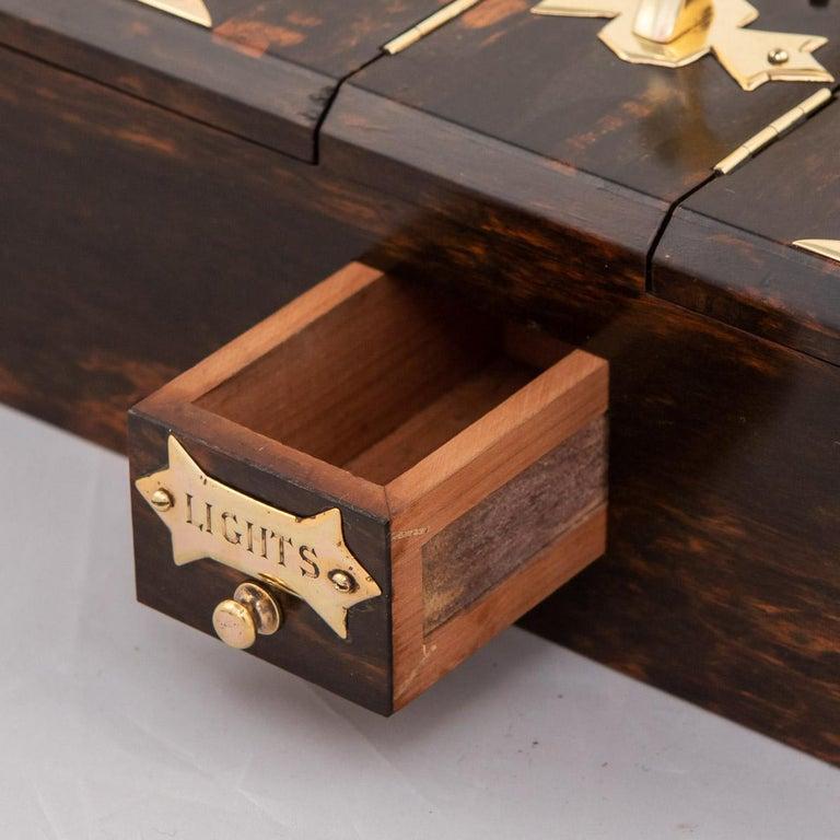 19th Century Victorian Coromandel & Brass Smoking Set, c.1880 For Sale 11