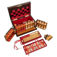 19th Century Victorian Coromandel Games Compendium, Cards & Board Games, c.1890