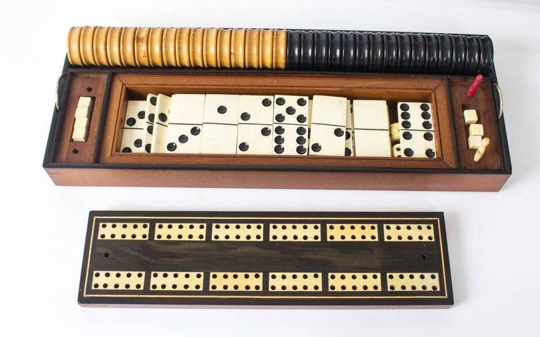 19th Century Victorian Coromandel Games Compendium Chess Drafts For Sale 4