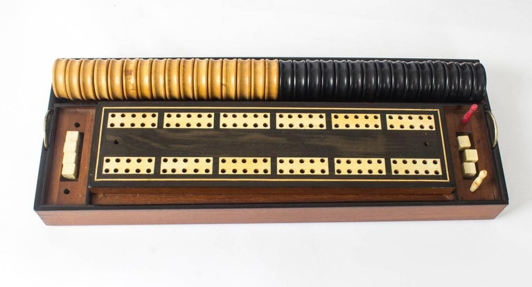 19th Century Victorian Coromandel Games Compendium Chess Drafts For Sale 3