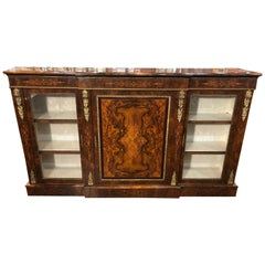 19th Century Victorian England Walnut Cabinet Inlay, 1860s