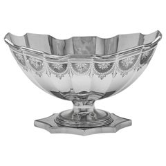 19th Century Victorian Engraved Sterling Silver Bowl by Savoury & Sons