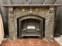 19th Century Victorian Fireplace in Grey Saint Anne des Pyrenees Marble