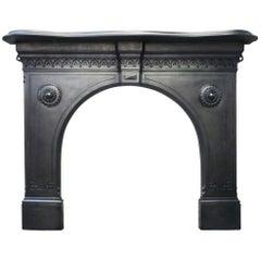 19th Century Victorian Gothic Cast Iron Fire Surround