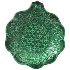 19th Century Victorian Green Platter Wedgwood
