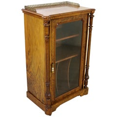 19th Century Victorian Inlaid Burr Walnut Music Cabinet