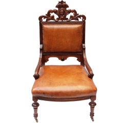 19th Century Victorian Leather Armchair