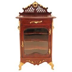 19th Century Victorian Mahogany and Ormolu Music Cabinet
