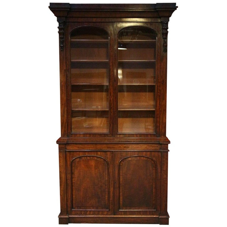 19th Century Victorian Mahogany Bookcase For Sale At 1stdibs