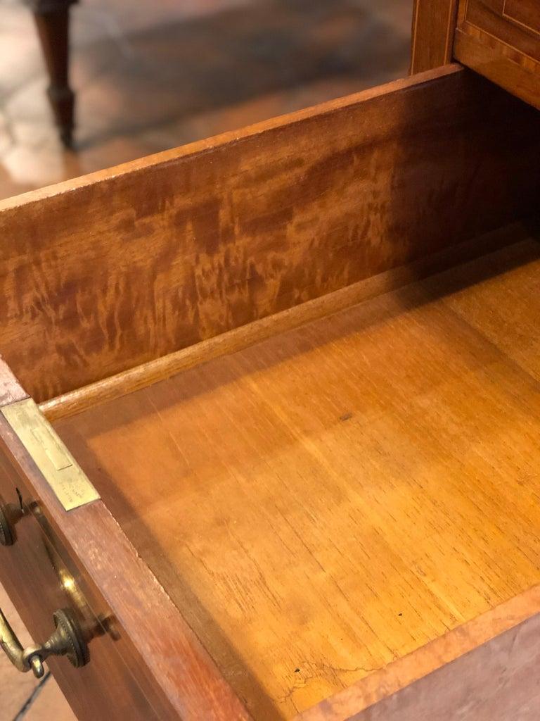 19th Century Victorian Mahogany Center Desk, 1890s For Sale 5