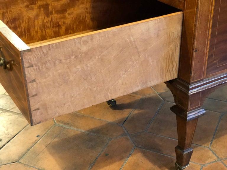 19th Century Victorian Mahogany Center Desk, 1890s For Sale 6