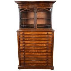 19th Century Victorian Mahogany Collectors Cabinet
