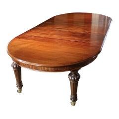 19th Century Victorian Mahogany Dining Table