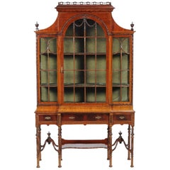 19th Century Victorian Mahogany Display Cabinet