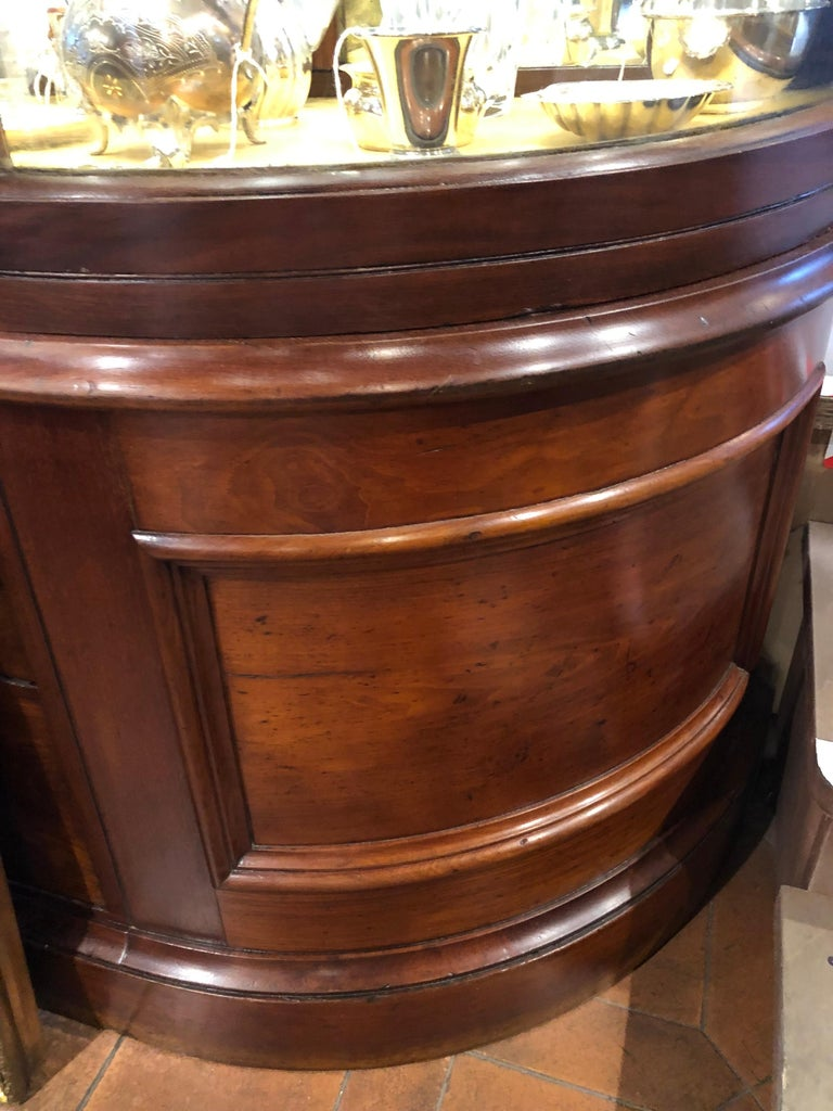 19th Century Victorian Mahogany English Shop Display Cabinet , 1890s In Good Condition For Sale In Roma, RM
