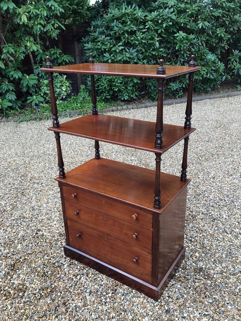 Hand-Crafted 19th Century Victorian Mahogany Whatnot For Sale
