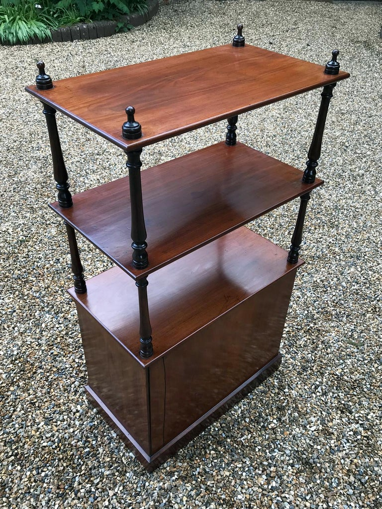 19th Century Victorian Mahogany Whatnot For Sale 2