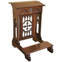 19th Century Victorian Oak Praying Lectern-Reading Stand