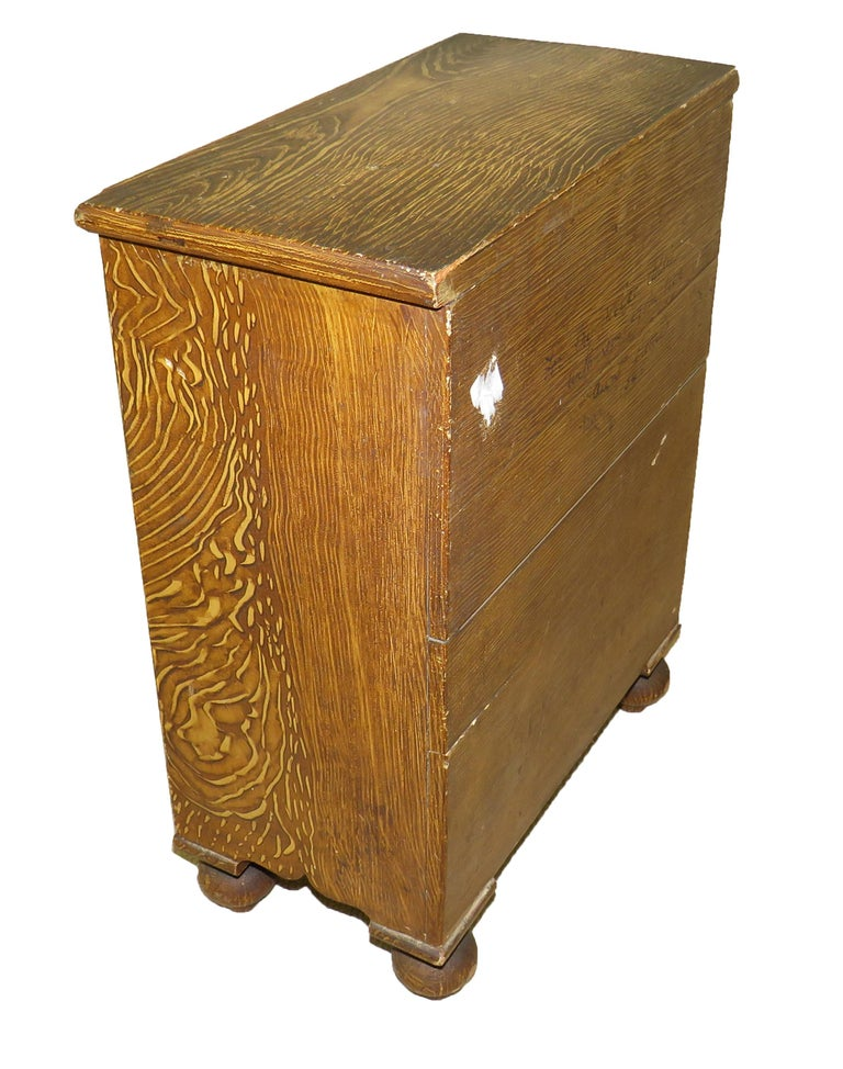 19th Century Victorian Painted Pine Miniature Apprentice Chest of Drawers For Sale 2