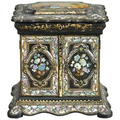 19th Century Victorian Period Mother of Pearl Sewing Box