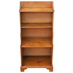 19th Century Victorian Pine Waterfall Bookcase Shelves