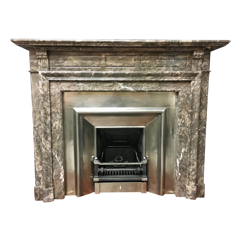 19th Century Victorian Rare Ashburton Marble Fireplace Surround