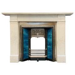 19th Century Victorian Scottish Carrara Marble Fireplace Surround