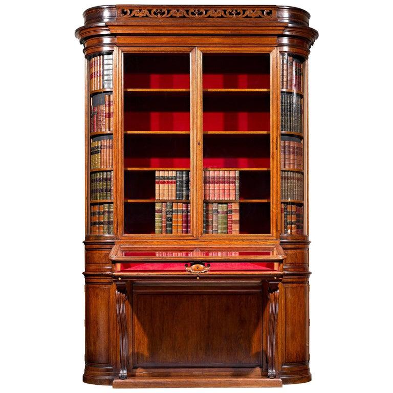 19th Century Victorian Secret Bookcase