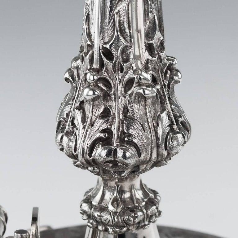 19th Century Victorian Silver Royal Artillery Centrepiece, circa 1874 For Sale 2