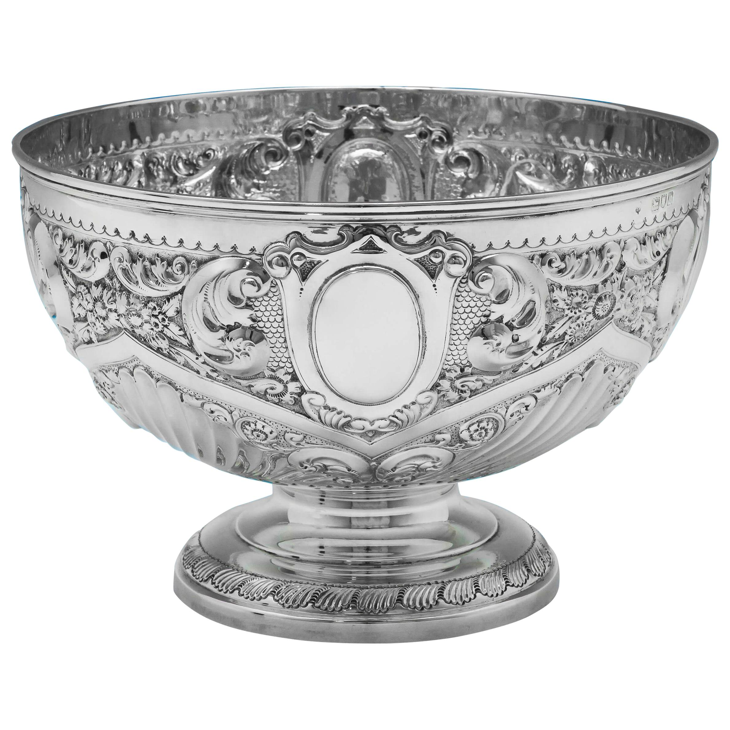 19th Century Victorian Sterling Silver Bowl Hallmarked in 1898