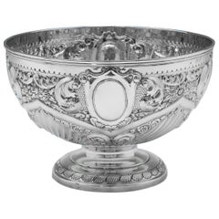 19th Century Victorian Sterling Silver Bowl Hallmarked in 1898