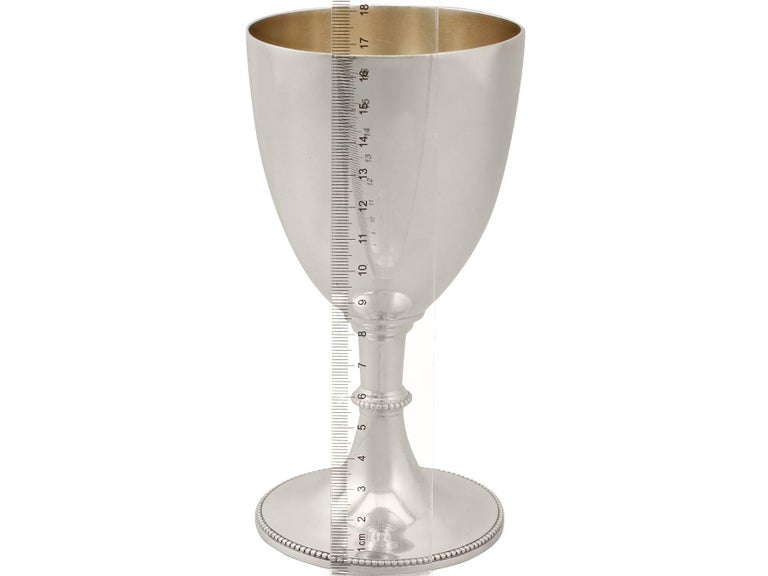 19th Century Victorian Sterling Silver Goblet For Sale 4