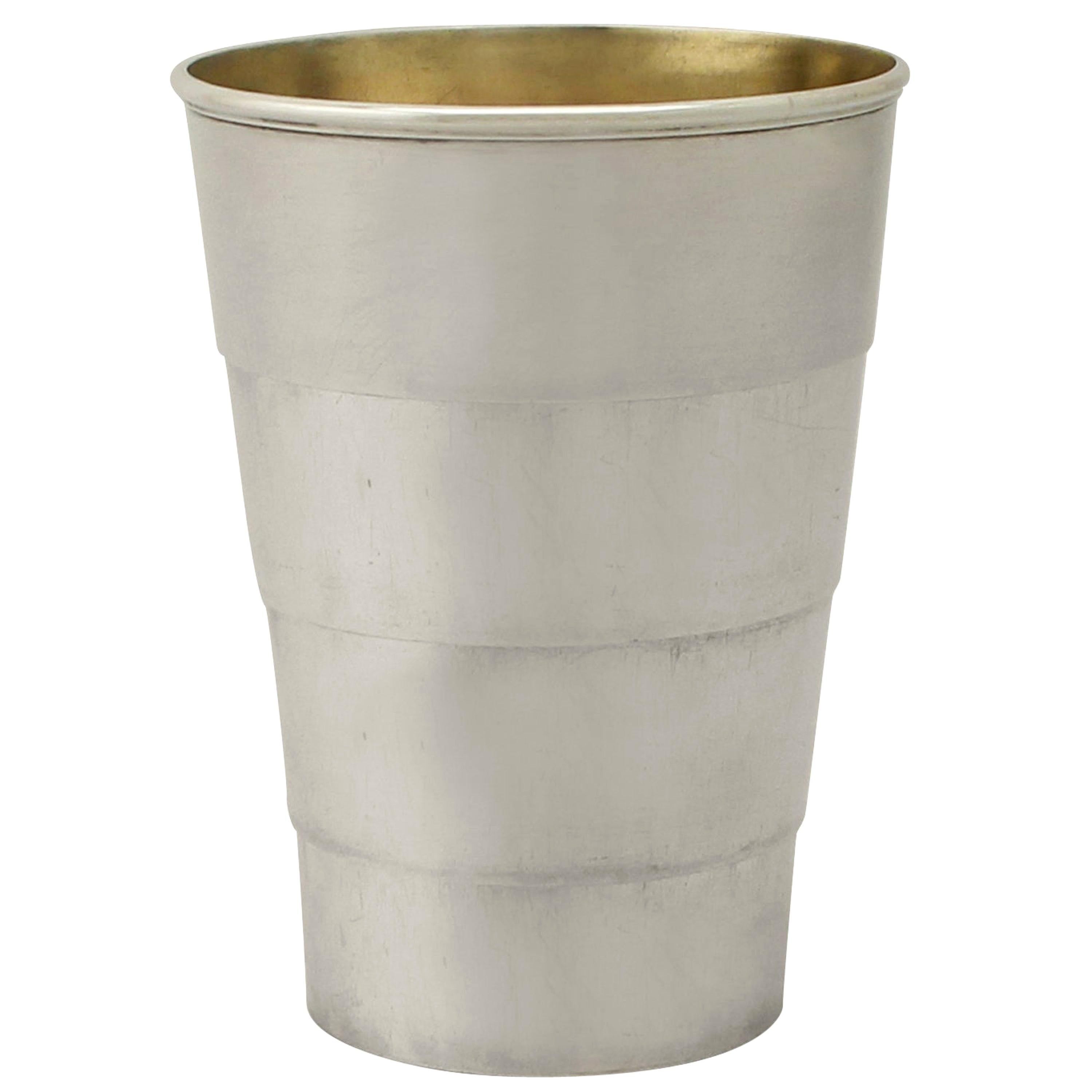 19th Century Victorian Sterling Silver Travelling Collapsible Beaker