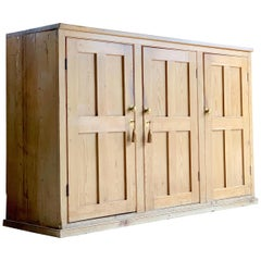 19th Century Victorian Stripped Pine Housekeepers Cupboard / Pantry, circa 1890