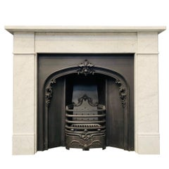 19th Century Victorian Style Carrara Marble Fireplace Surround