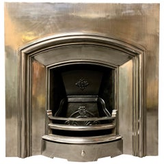 19th Century Victorian Style Cast Iron Slow Arch Fireplace Insert