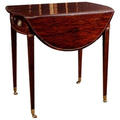19th Century Victorian Style Mahogany Drop-Leaf Table Pembroke Table