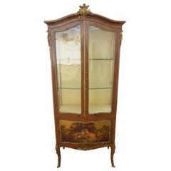 19th Century Victorian Vernis Martin Display Cabinet