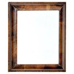 19th Century Victorian Walnut Cushion Mirror