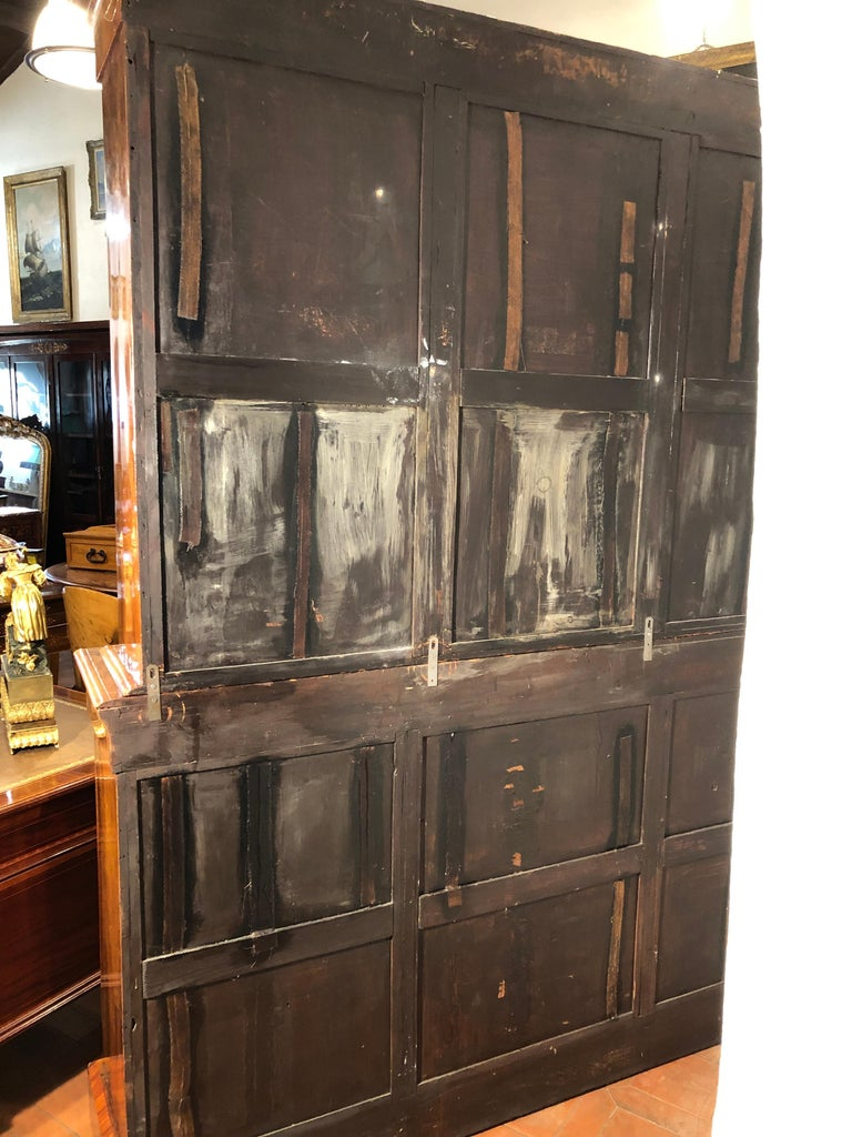 19th Century Victorian Walnut England Bookcase Vitrines,1860s For Sale 5