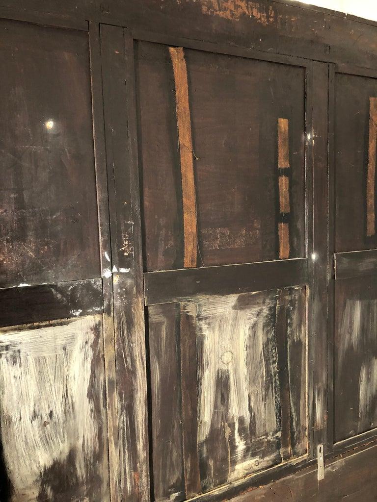 19th Century Victorian Walnut England Bookcase Vitrines,1860s For Sale 8