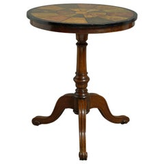 19th Century Victorian Walnut Tripod Table