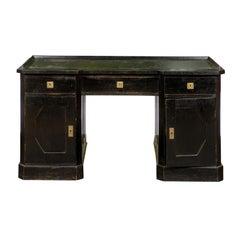 19th Century Vienna Secession Black Painted Desk