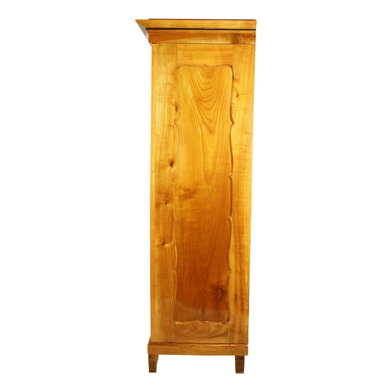 19th Century Viennese Biedermeier Cherrywood Wardrobe For Sale 1