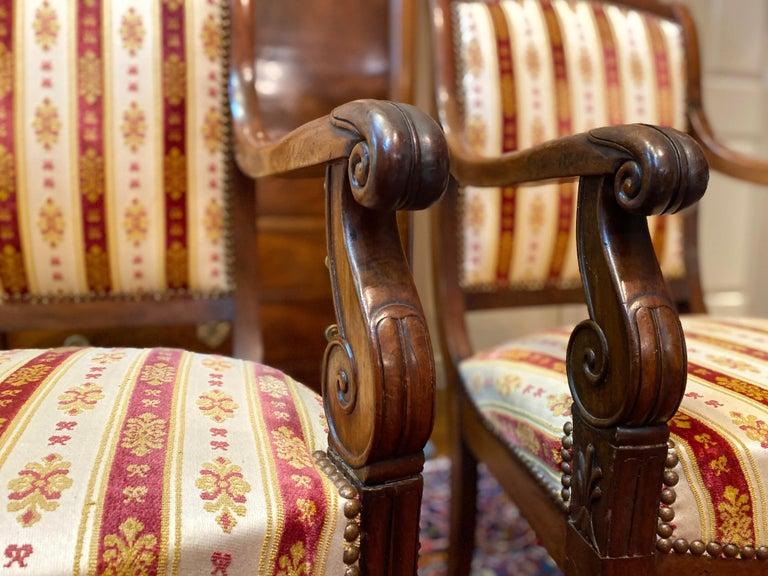 19th Century Vintage Empire Mahogany Salon, Set of 5 For Sale 2
